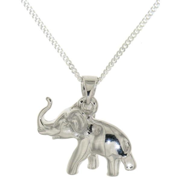 Anhänger Elefant massiv echt Silber mit Kette Sonderpreis