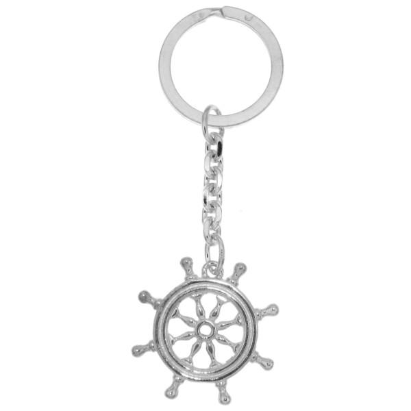 Schlüsselanhänger Schiff-Steuerrad Yachtsteuerrad Boot massiv echt Silber