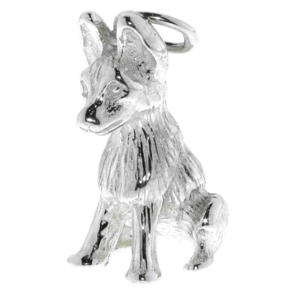 Anhänger Schäferhund Welpe Hunderasse massiv echt Silber
