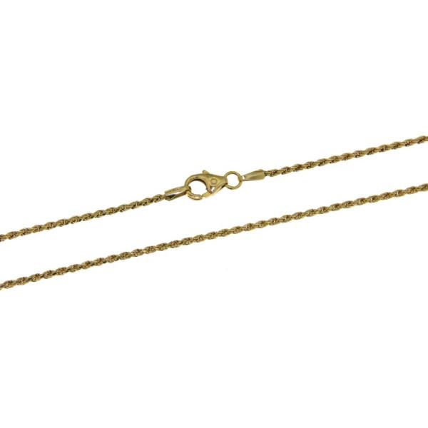 Collierkette Kordelkette - Rope chain - 1,4 mm stark massiv 585/-