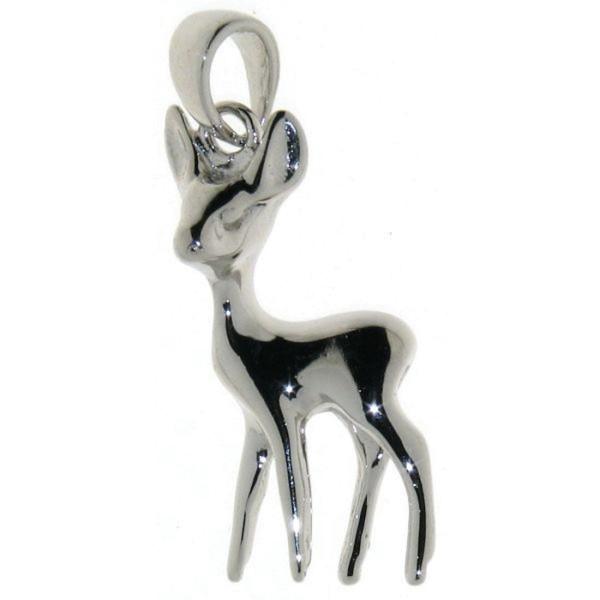 Anhänger Reh Bambi massiv echt Silber