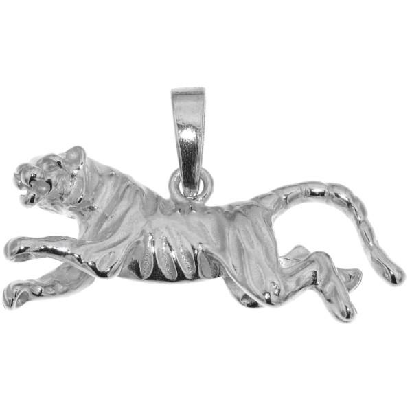 Anhänger Tiger Raubkatze echt Silber