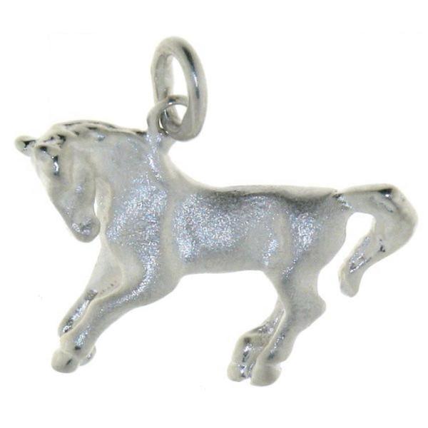 Anhänger Pferdchen echt Silber mattiert - poliert