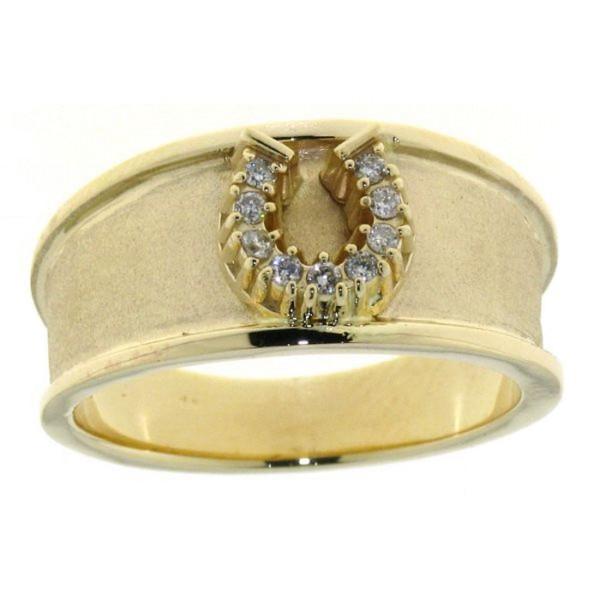 Breiter Ring mit Diamanthufeisen