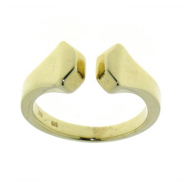 """Ring """"Doppel""""Hufnagel - 2 Hufnägelköpfe - massiv Gelbgold"""