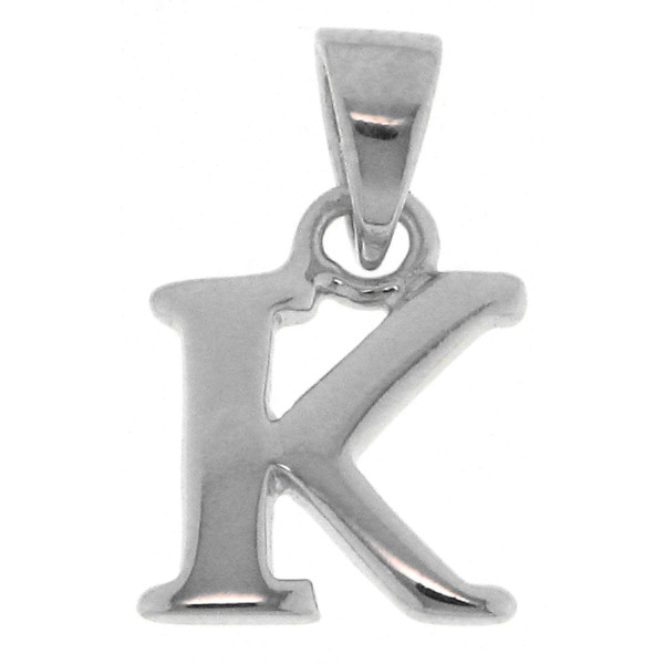 Anhänger Alphabet Buchstabe K massiv echt Silber