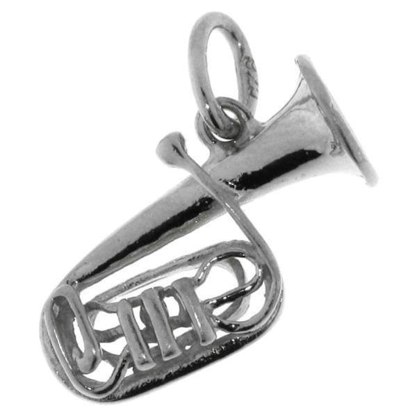 Anhänger Tuba Musikinstrument Blasinstrument massiv echt Silber