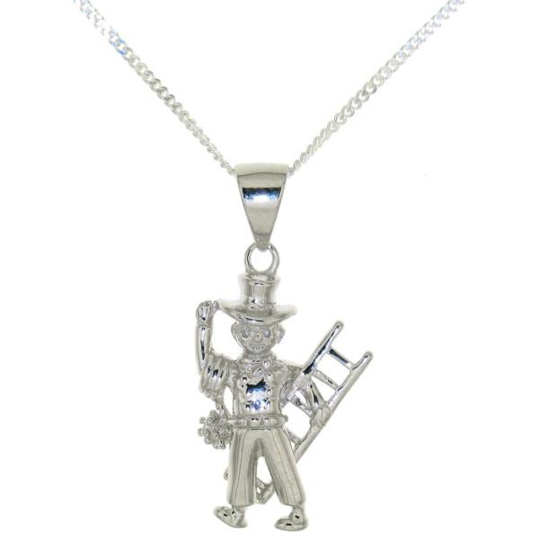 Anhänger Schornsteinfeger Kaminfeger Kaminkehrer massiv echt Silber mit Kette