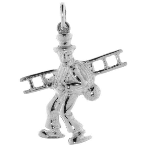 Anhänger Kaminfeger Schornsteinfeger Schornsteinkehrer schwer massiv echt Silber