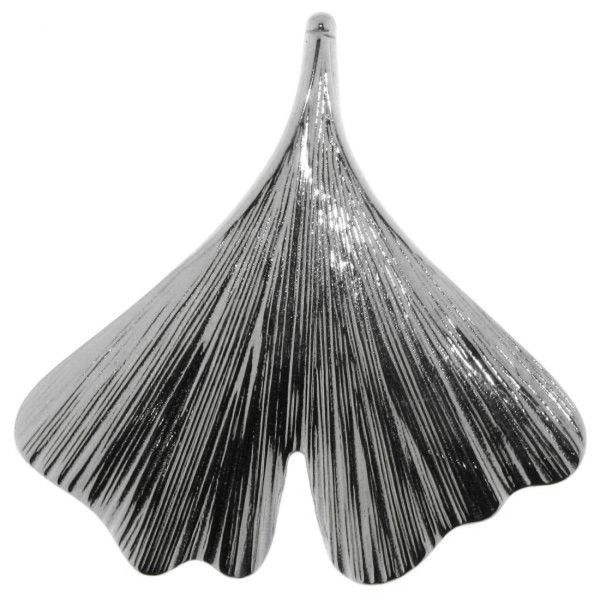 Anhänger Ginkgo-Blatt Ginkgopflanze massiv echt Silber