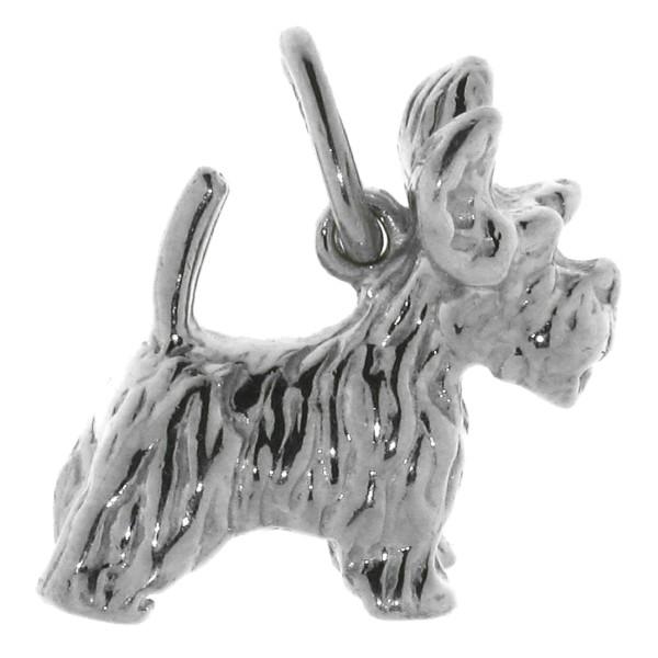 Anhänger Terrier Hunderasse massiv echt Silber