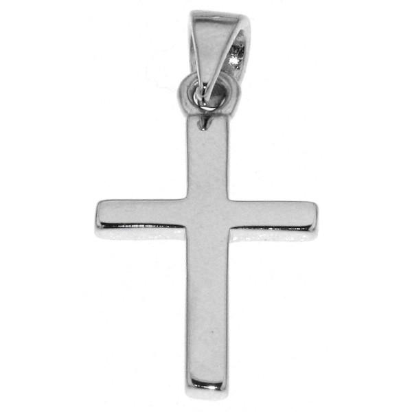 Anhänger Kreuz klein massiv echt Silber
