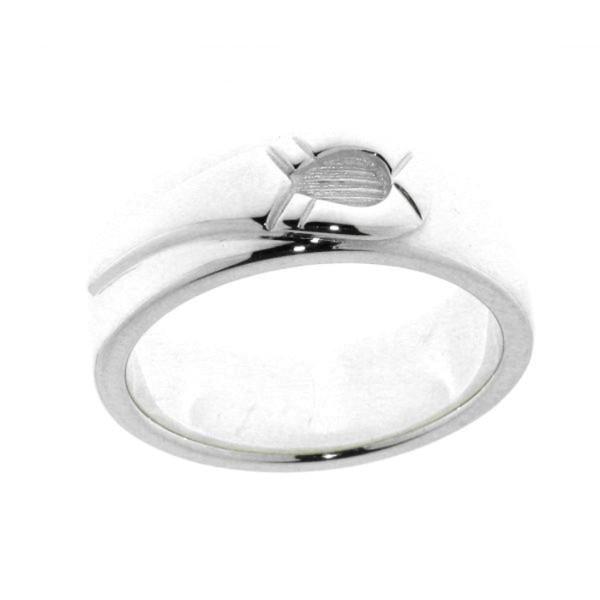 Ring mit einem Hufeisen massiv echt Silber