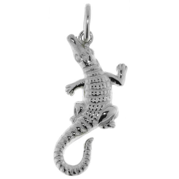 Anhänger Krokodil Alligator echt Silber