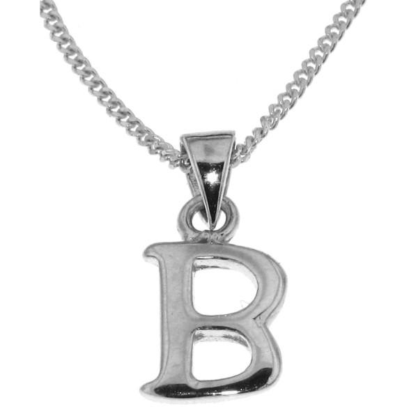 Anhänger Buchstabe B massiv echt Silber mit Kette Sonderangebot nur für kurze Zeit