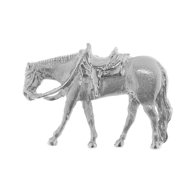 Anhänger Western Pleasure-Pferd schwer massiv echt Silber mattiert - poliert