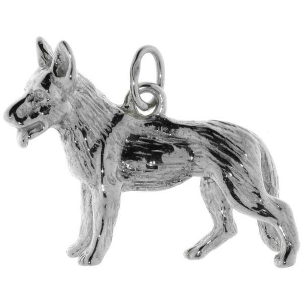 Anhänger Schäferhund Hunderasse schwer groß massiv echt Silber