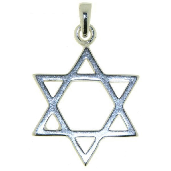 Anhänger Davidstern Glaubenssymbol massiv echt Silber