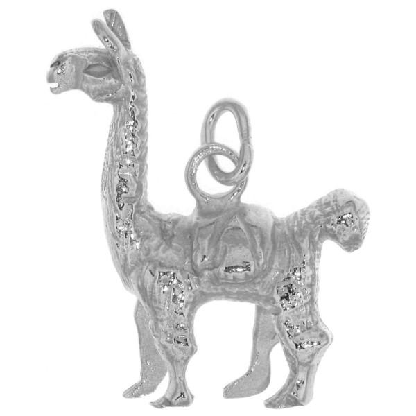 Anhänger Alpaka Lama schwer massiv echt Silber