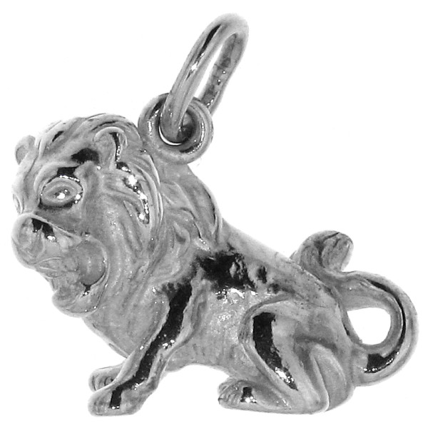Anhänger Löwe massiv Tierkreiszeichen Sternzeichen echt Silber
