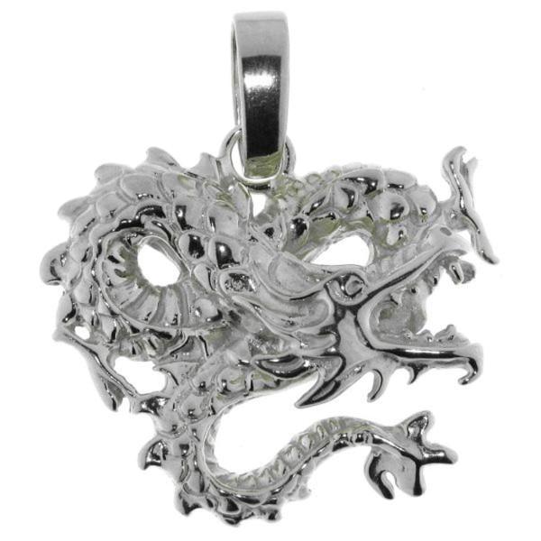 Anhänger Drachen groß echt Silber