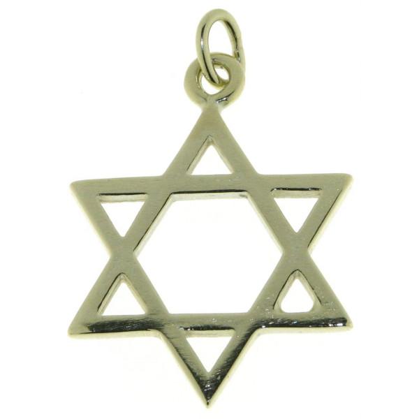 Anhänger Davidstern Glaubenssymbol massiv echt Gold