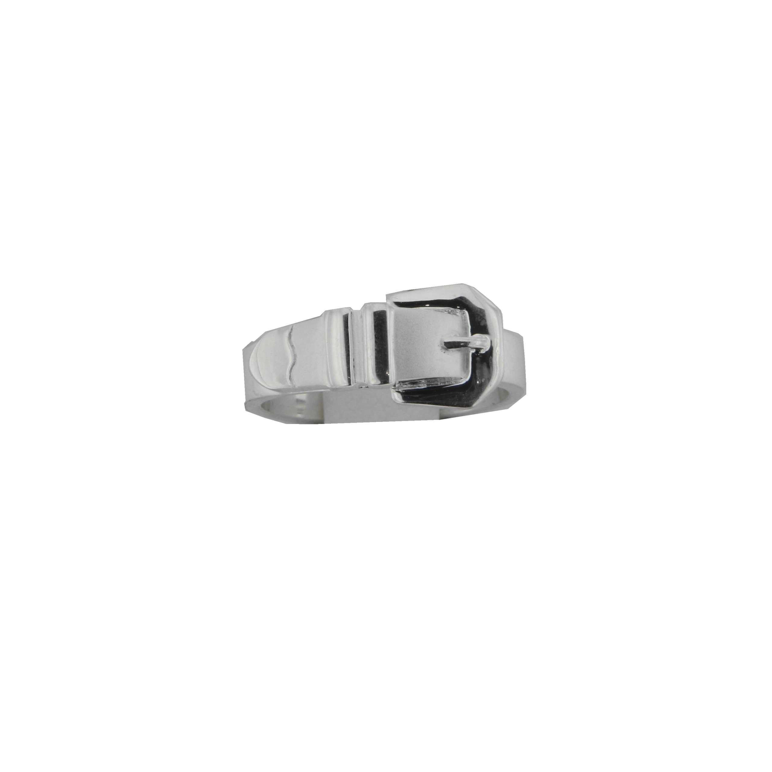Derby Ring Buckle Gürtel Schließe Massiv Echt Silber 24422