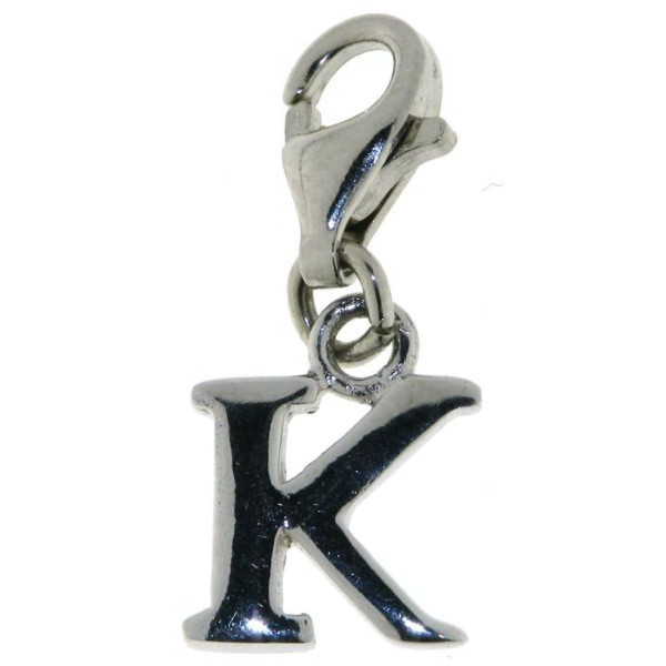 Charm Buchstabe K massiv echt Silber