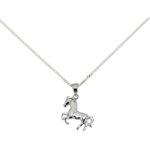Anhänger Pferd Pony Pferdchen massiv echt Silber mit Kette
