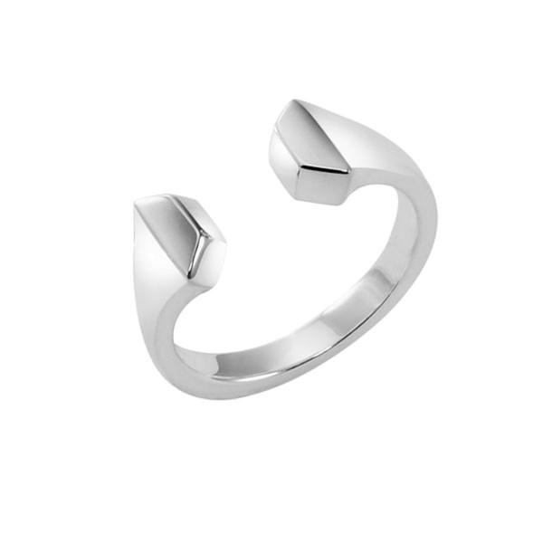 "Ring ""Doppel""Hufnagel massiv echt Silber"