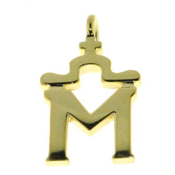 Anhänger Brandzeichen Mecklenburg klein echt Silber goldplattiert