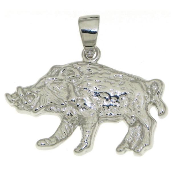 Anhänger Wildschwein Wildsau Keiler echt Silber