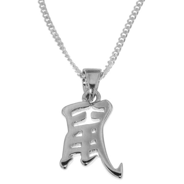 Anhänger Ratte Chinesisches Tierkreiszeichen echt Silber mit Kette Sternzeichen