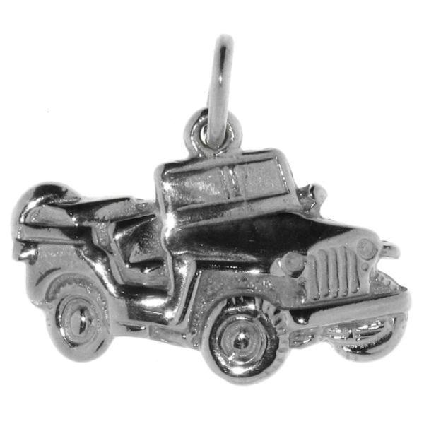 Anhänger Jeep Geländewagen Willy massiv echt Silber