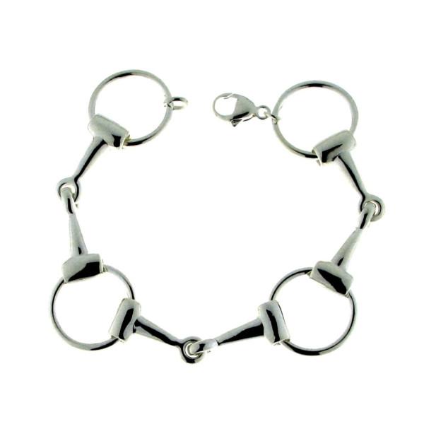 Armband 3 Trensengebisse massiv echt Silber Trensenarmband