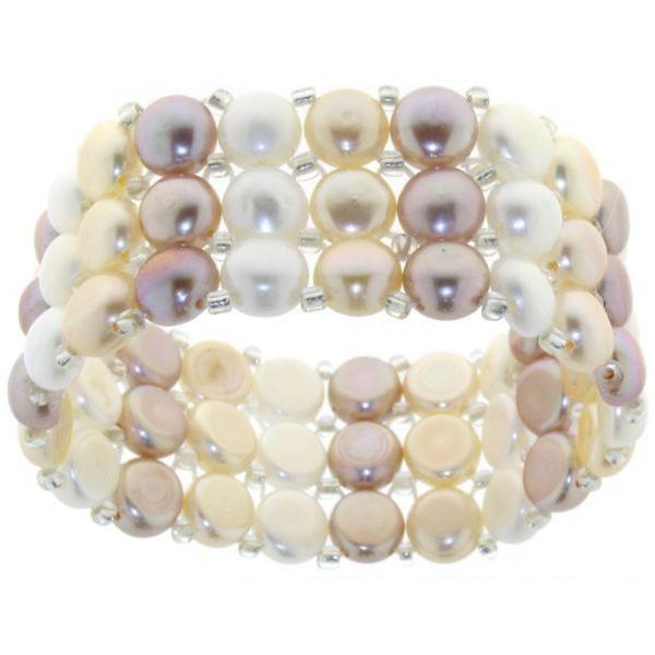 Armband aus Süßwasserperlen multicolor solange Vorrat reicht