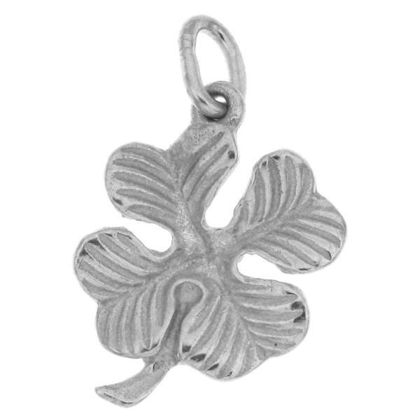 Anhänger Vierblättriges Kleeblatt Glücksbringer massiv echt Silber