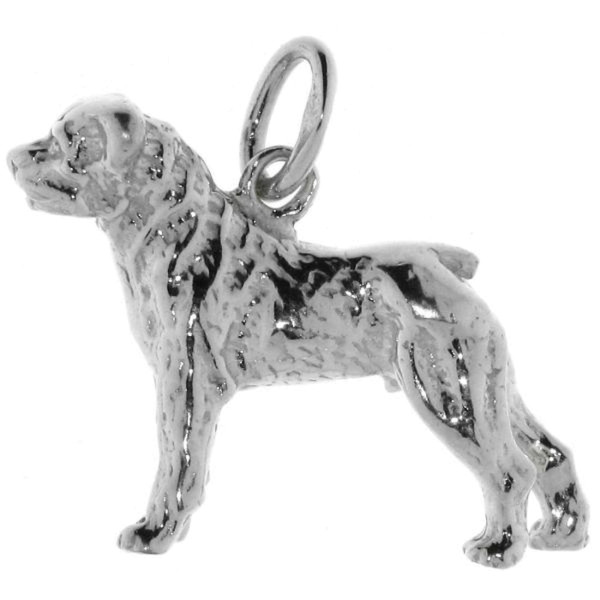 Anhänger Rottweiler Hunderasse massiv echt Silber