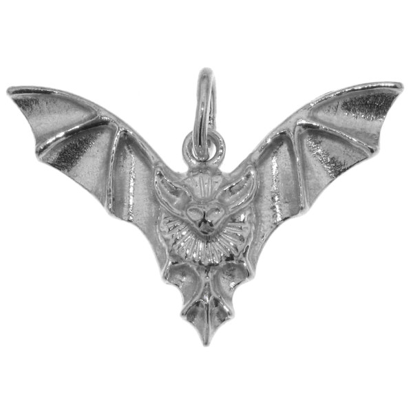 Anhänger Fledermaus massiv echt Silber