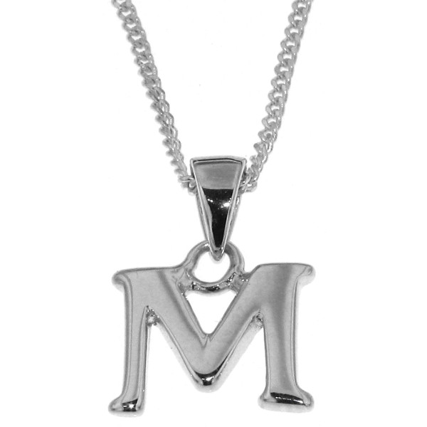 Anhänger Buchstabe M massiv echt Silber mit Kette Sonderangebot nur für kurze Zeit