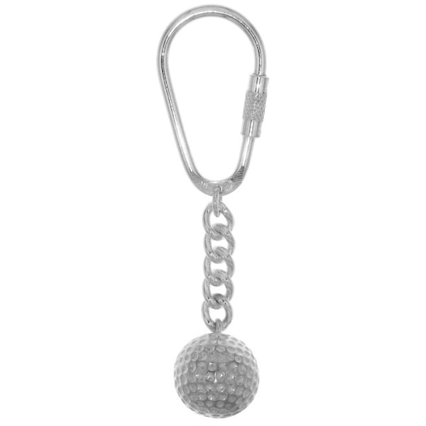 Schlüsselanhänger Golfball schwer massiv echt Silber Golfsport