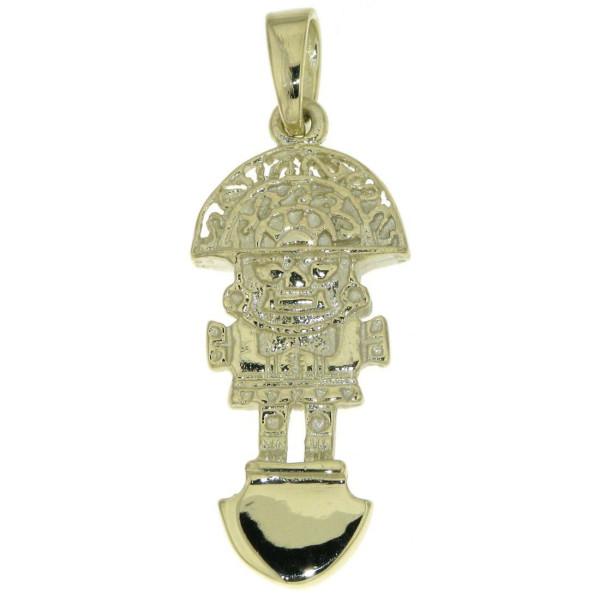 Anhänger Tumi Maya Glücksbringer Talisman massiv echt Gold