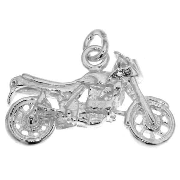 Anhänger Motorrad Mofa massiv echt Silber