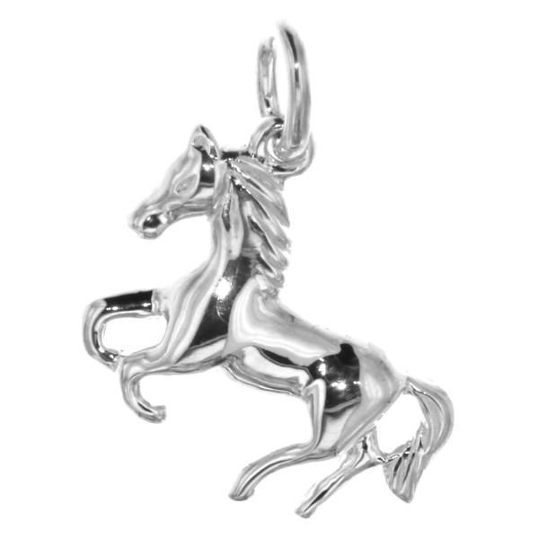 Anhänger Pferdchen Pferd Pony massiv echt Silber
