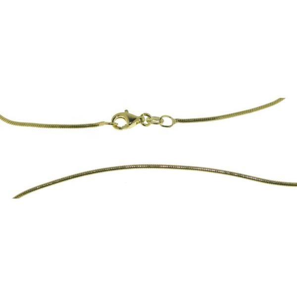 Schlangenkette Collierkette 1,3 mm 925/- Sterling goldplattiert