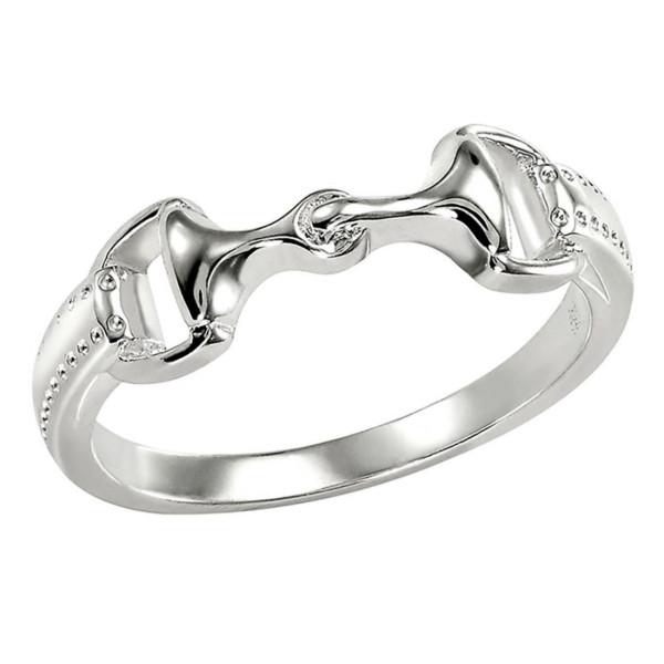 Ring Trensengebiß mit Zügelstücken massiv echt Silber