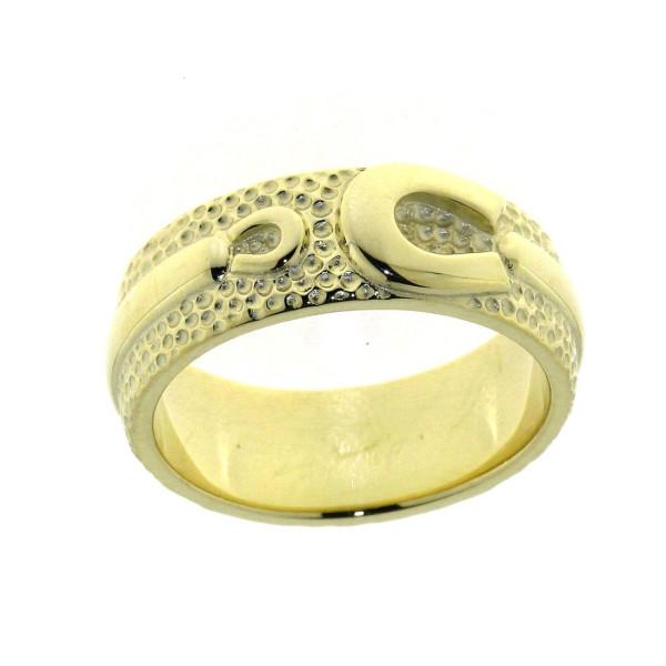 Ring mit einem großen und einem kleinen Hufeisen schwer massiv Gelbgold