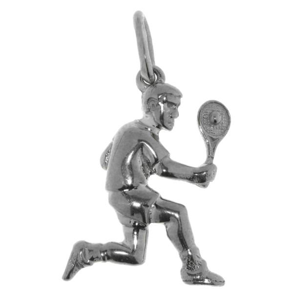 Anhänger Tennisspieler Tennis-Sport massiv echt Silber