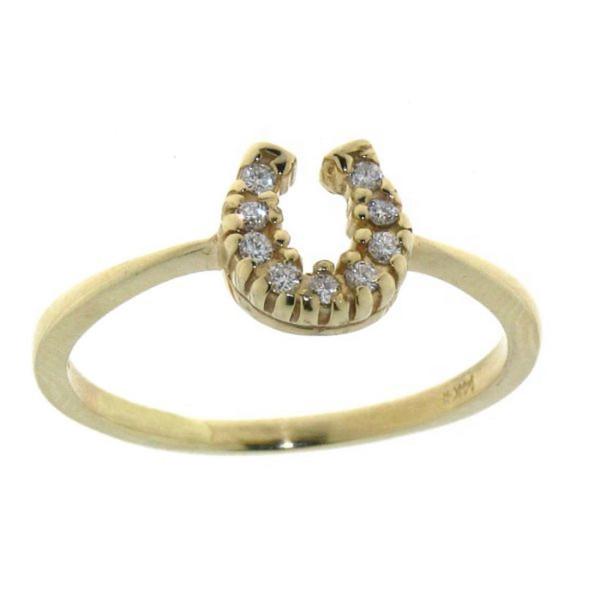 Ring mit kleinem Diamant Hufeisen