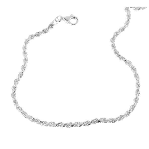 Collierkette Kordelkette - Rope chain - kräftig 2,8 mm stark massiv echt Silber